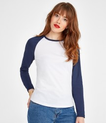 SOL'S Ladies Milky Contrast Long Sleeve T-Shirt image