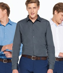 SOL'S Broker Long Sleeve Contrast Fitted Shirt image