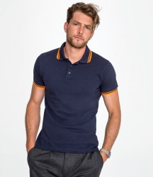 SOL'S Pasadena Tipped Cotton Piqué Polo Shirt image