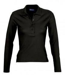 SOL'S Ladies Podium Long Sleeve Cotton Piqué Polo Shirt image