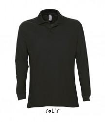 SOL'S Star Long Sleeve Cotton Piqué Polo Shirt image
