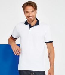 SOL'S Prince Contrast Cotton Piqué Polo Shirt image
