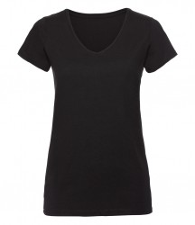 Russell Ladies V Neck HD T-Shirt image