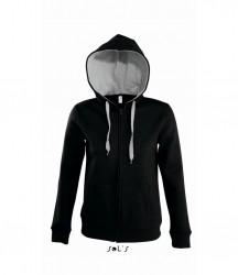 SOL'S Ladies Soul Contrast Zip Hooded Sweatshirt image