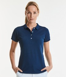 Russell Ladies Stretch Piqué Polo Shirt image