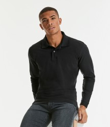 Russell Classic Long Sleeve Cotton Piqué Polo Shirt image