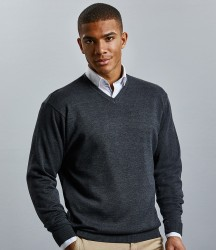 Russell Collection Cotton Acrylic V Neck Sweater image
