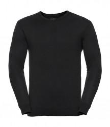 Image 5 of Russell Collection Cotton Acrylic V Neck Sweater