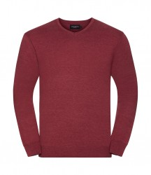 Image 4 of Russell Collection Cotton Acrylic V Neck Sweater