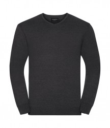 Image 3 of Russell Collection Cotton Acrylic V Neck Sweater