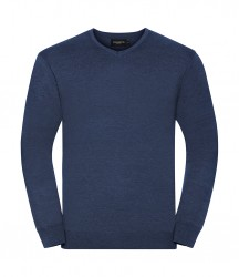 Image 2 of Russell Collection Cotton Acrylic V Neck Sweater