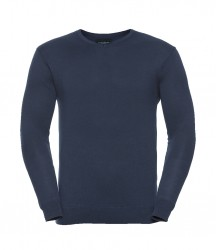 Image 6 of Russell Collection Cotton Acrylic V Neck Sweater