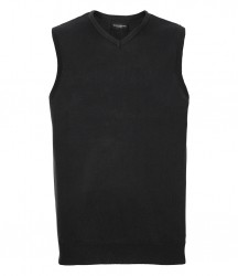 Russell Collection Sleeveless Cotton Acrylic V Neck Sweater image