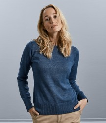 Russell Ladies Cotton Acrylic Crew Neck Sweater image
