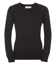 Image 2 of Russell Collection Ladies Cotton Acrylic Crew Neck Sweater
