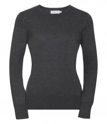 Image 4 of Russell Collection Ladies Cotton Acrylic Crew Neck Sweater