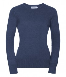 Image 5 of Russell Collection Ladies Cotton Acrylic Crew Neck Sweater