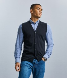 Russell Sleeveless Cotton Acrylic V Neck Cardigan image