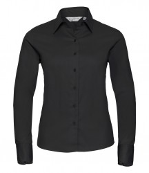 Russell Collection Ladies Long Sleeve Classic Twill Shirt image