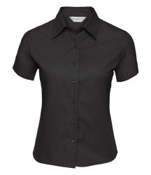 Russell Collection Ladies Short Sleeve Classic Twill Shirt image