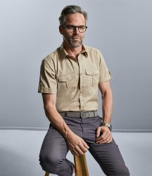 Russell Collection Short Sleeve Twill Roll Shirt image