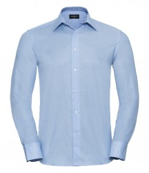 Russell Collection Long Sleeve Tailored Oxford Shirt image