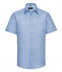 Russell Collection Short Sleeve Tailored Oxford Shirt image