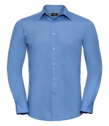 Russell Collection Long Sleeve Tailored Poplin Shirt image