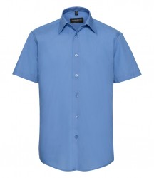 Russell Collection Short Sleeve Tailored Poplin Shirt image