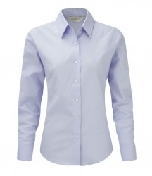 Russell Collection Ladies Long Sleeve Easy Care Oxford Shirt image