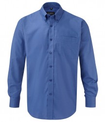 Image 7 of Russell Collection Long Sleeve Easy Care Oxford Shirt