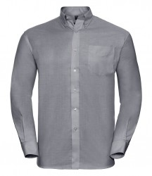 Image 3 of Russell Collection Long Sleeve Easy Care Oxford Shirt
