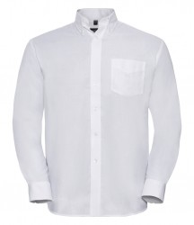 Image 2 of Russell Collection Long Sleeve Easy Care Oxford Shirt
