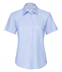 Russell Collection Ladies Short Sleeve Easy Care Oxford Shirt image