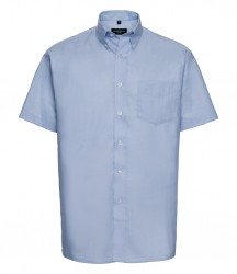 Russell Collection Short Sleeve Easy Care Oxford Shirt image