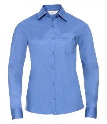 Russell Collection Ladies Long Sleeve Easy Care Poplin Shirt image