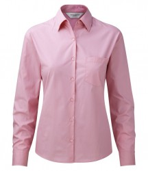 Russell Collection Ladies Long Sleeve Easy Care Cotton Poplin Shirt image