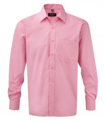 Russell Collection Long Sleeve Easy Care Cotton Poplin Shirt image
