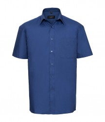 Russell Collection Short Sleeve Easy Care Cotton Poplin Shirt image