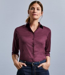 Russell Collection Ladies 3/4 Sleeve Easy Care Fitted Shirt image