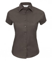 Russell Collection Ladies Short Sleeve Easy Care Fitted Shirt image
