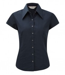 Russell Collection Ladies Cap Sleeve Tencel® Fitted Shirt image