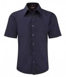 Russell Collection Short Sleeve Tencel® Fitted Shirt image