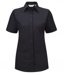 Russell Collection Ladies Short Sleeve Ultimate Stretch Shirt image