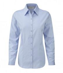 Russell Collection Ladies Long Sleeve Herringbone Shirt image