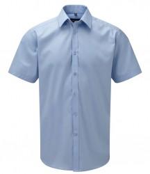 Russell Collection Short Sleeve Herringbone Shirt image