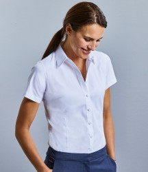 Russell Collection Ladies Short Sleeve Tailored Coolmax® Shirt image