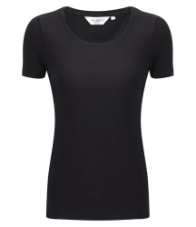 Russell Collection Ladies Short Sleeve Stretch Top image