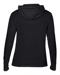 Image 1 of Anvil Ladies Lightweight Long Sleeve Hooded T-Shirt