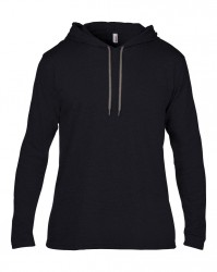 Image 2 of Anvil Lightweight Long Sleeve Hooded T-Shirt